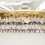 ロシアからの空手留学生と全日本トップ選手を松井館長が指導