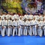 2018年ロシア支部冬合宿で五来克仁師範、アルトゥール師範、荒田昇毅が指導