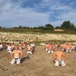 ルーマニア支部合宿で杉村多一郎師範が指導